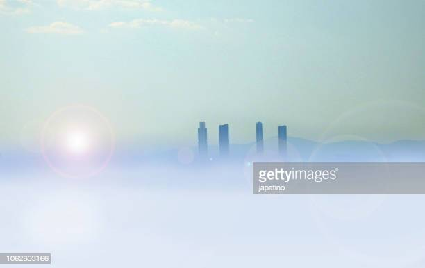 pollution in madrid - carbon dioxide stock photos and pictures