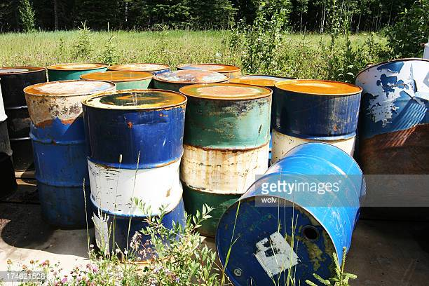 pollution # 3 - steel drum stock photos and pictures