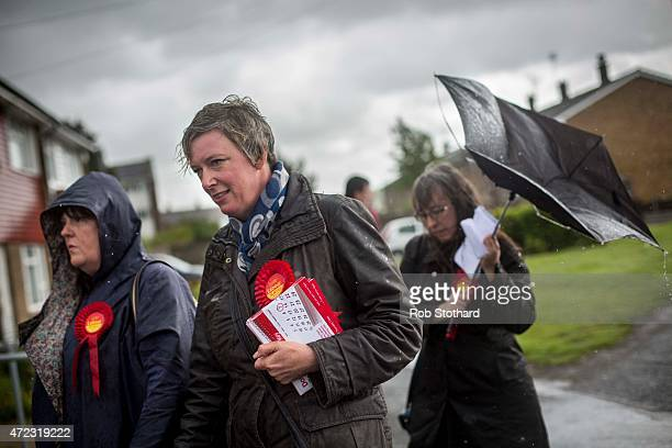 Polly Billington Labour Party candidate for Thurrock campaigns in Tilbury on May 6 2015 in Tilbury England The south Essex constituency of Thurrock...
