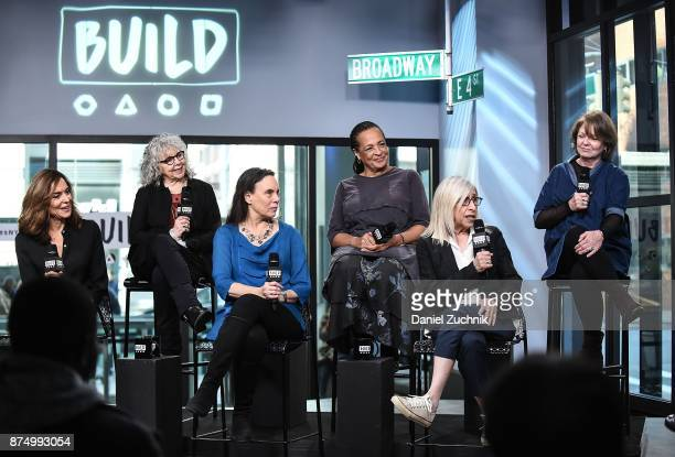 Polly Draper Kathryn Grody Emily Mann Franchelle Stewart Dorn Susan Miller and Ellen Parker attend the Build Series to discuss the Broadway play...