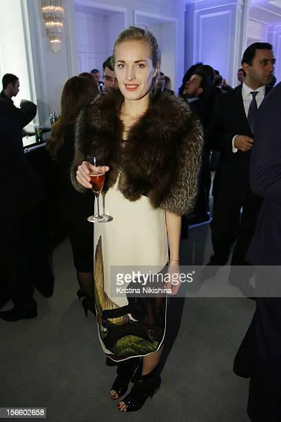 Polly Morgan arrives at the launch of the Four Seasons Hotel Baku on November 17 2012 in Baku Azerbaijan
