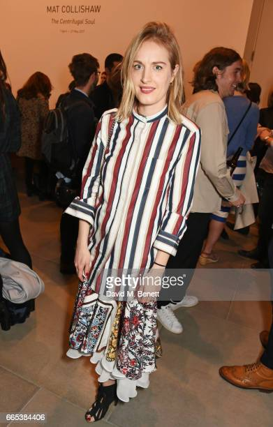 Polly Morgan attends the Private View of 'Centrifugal Soul' by Mat Collishaw at Blain Southern on April 6 2017 in London England