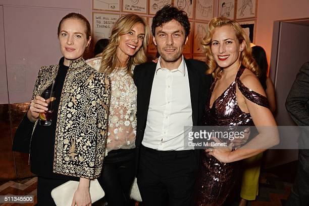 Polly Morgan Kim Hersov Barry Reigate and Charlotte Dellal attend as James Gager Senior Vice President Group Creative Director of MAC Cosmetics and...