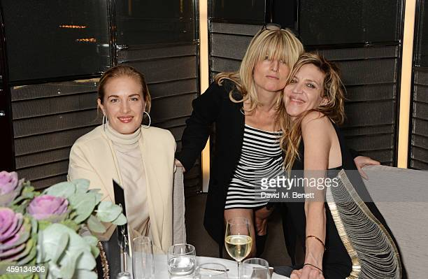 Polly Morgan Rachel Johnson and Martha Fiennes attend the Liberatum Cultural Honour for Francis Ford Coppola at The Bulgari Hotel on November 17 2014...