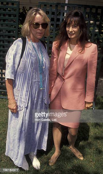 Polly Platt and Gale Anne Hurd attend Premiere Magazine Party Honoring Jodie Foster on September 14 1993 at Bel Air Hotel in Bel Air California