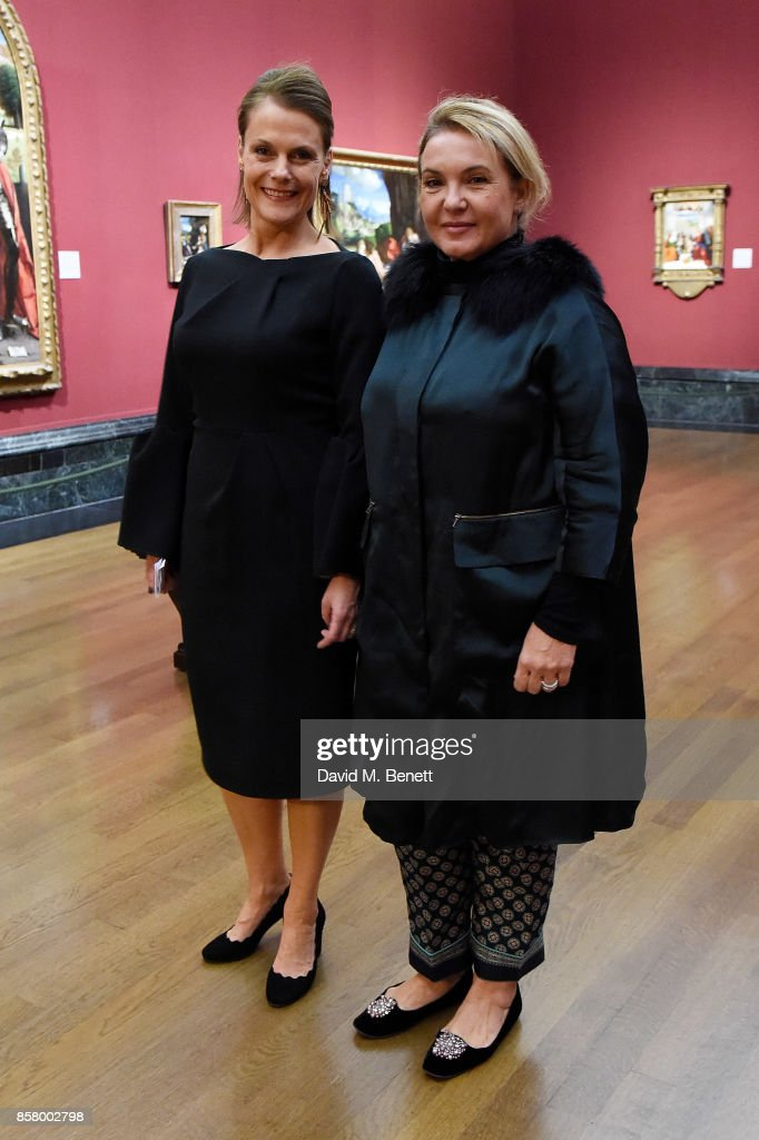 Polly Robinson Gaer and Lady Roussev attends 'Unexpected View' co-hosted by the National Gallery and Galerie Thaddaeus Ropac on the occasion of Frieze 2017 at The National Gallery on October 5, 2017 in London, England.