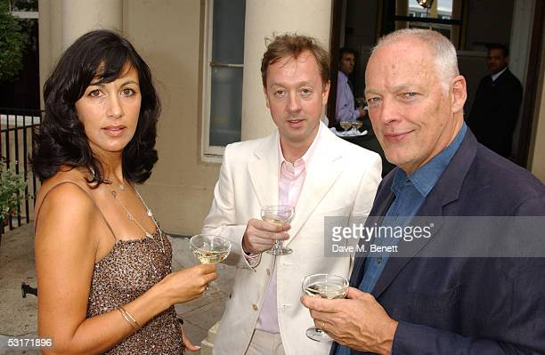 Polly Sampson Geordie Greig and David Gilmour attend the annual Tatler Summer Party hosted hosted by Tatler editor Geordie Greig and also celebrating...