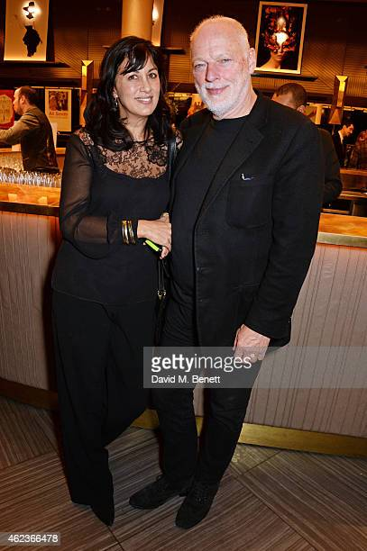 Polly Samson and David Gilmour attends the Costa Book of the Year award at Quaglinos on January 27 2015 in London England