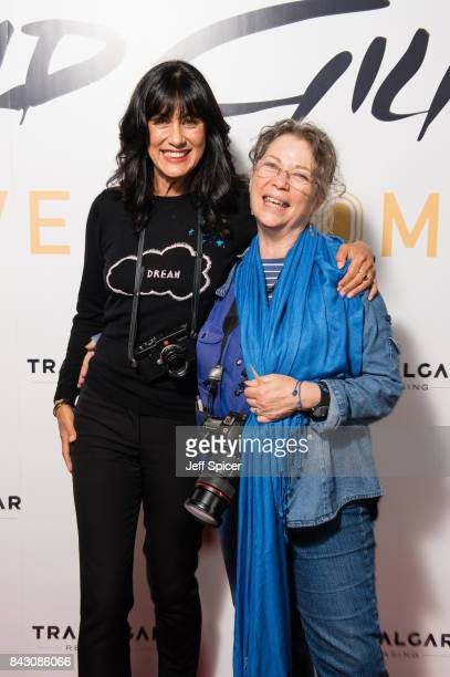 Polly Samson and Jill Furmanovsky arrive for the David Gilmour 'Live At Pompeii' premiere screening at Vue West End on September 5 2017 in London...