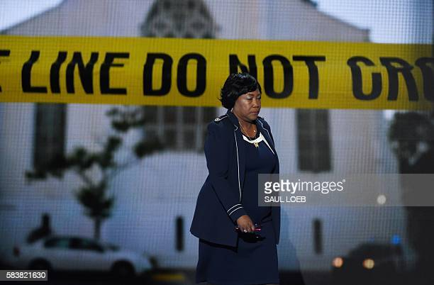 Polly Sheppard one of the three survivors of the Mother Emanuel Church shooting in Charleston SC arrives to address the third evening session of the...