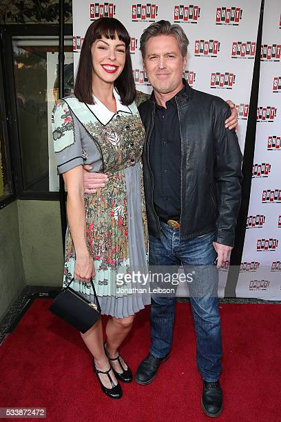 Pollyanna McIntosh and Bill Sage attend the World Premiere Of Shout Factory Original Production 'Fender Bender' at Cinefamily on May 23 2016 in Los...