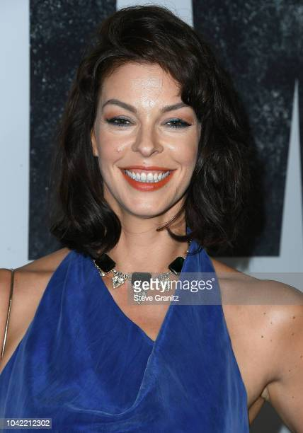 Pollyanna McIntosh arrives at the Premiere Of AMC's The Walking Dead Season 9 at DGA Theater on September 27 2018 in Los Angeles California