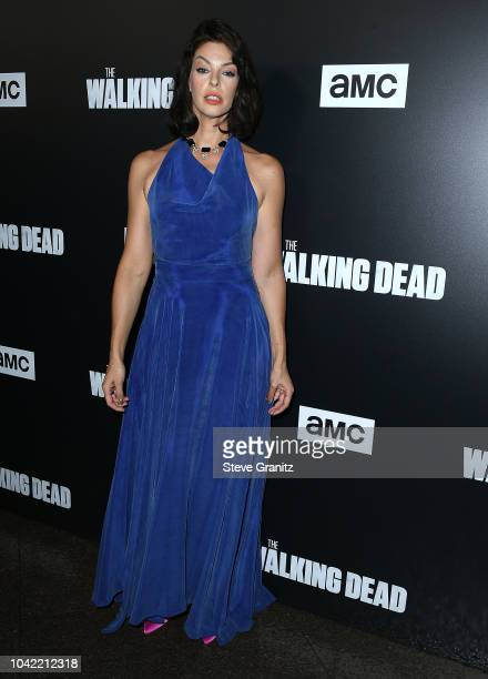 Pollyanna McIntosh arrives at the Premiere Of AMC's 'The Walking Dead' Season 9 at DGA Theater on September 27 2018 in Los Angeles California