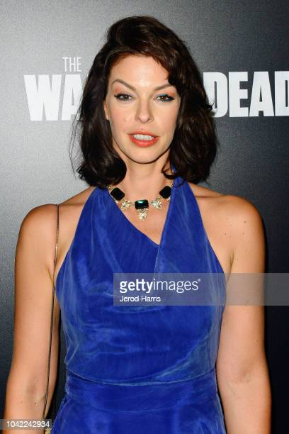 Pollyanna McIntosh arrives at the Premiere Of AMC's 'The Walking Dead' Season 9 at the DGA Theater on September 27 2018 in Los Angeles California