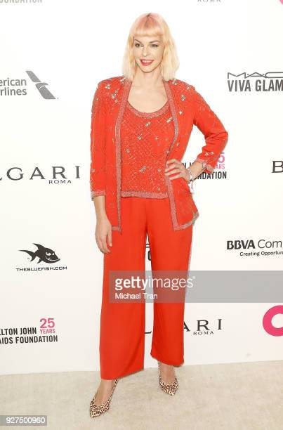 Pollyanna McIntosh arrives to the 26th Annual Elton John AIDS Foundation's Academy Awards Viewing Party held at West Hollywood Park on March 4 2018...