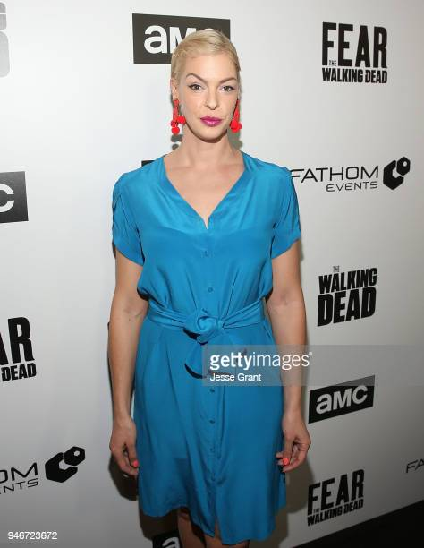Pollyanna McIntosh attends AMC Survival Sunday The Walking Dead/Fear the Walking Dead on April 15 2018 in Los Angeles California