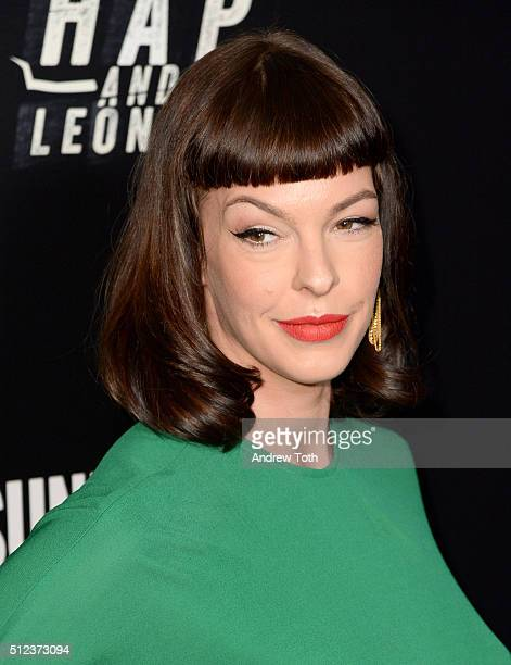 Pollyanna McIntosh attends Hap and Leonard private premiere party at Hill Country BBQ on February 25 2016 in New York City