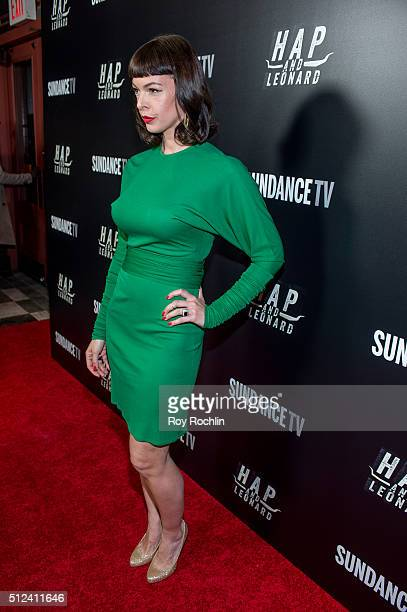 Pollyanna McIntosh attends 'Hap and Leonard' Private Premiere Party at Hill Country BBQ on February 25 2016 in New York City