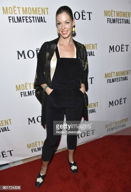 Pollyanna McIntosh attends Moet and Chandon Celebrates 3rd Annual Moet Moment Film Festival and kick off of Golden Globes Week at Poppy on January 5...