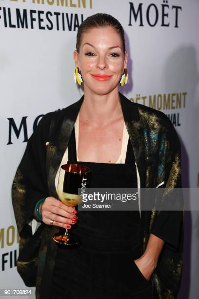 Pollyanna McIntosh attends Moet Chandon celebrates the 3rd annual Moet Moment Film Festival and kicks off Golden Globes week at Poppy on January 5...