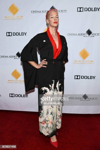 Pollyanna McIntosh attends the 54th annual Cinema Audio Society Awards at Omni Los Angeles Hotel on February 24 2018 in Los Angeles California