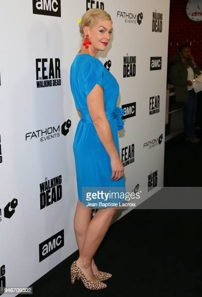 Pollyanna McIntosh attends the Fathom Events and AMC's 'Survival Sunday The Walking Dead And Fear The Walking Dead' on April 15 2018 in Century City...