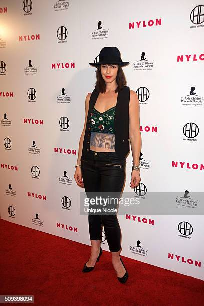 Pollyanna McIntosh attends the Muses and Music party hosted by NYLON Magazine at No Vacancy on February 9 2016 in Los Angeles California