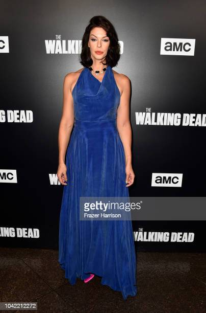 Pollyanna McIntosh attends the Premiere of AMC's The Walking Dead Season 9 at DGA Theater on September 27 2018 in Los Angeles California