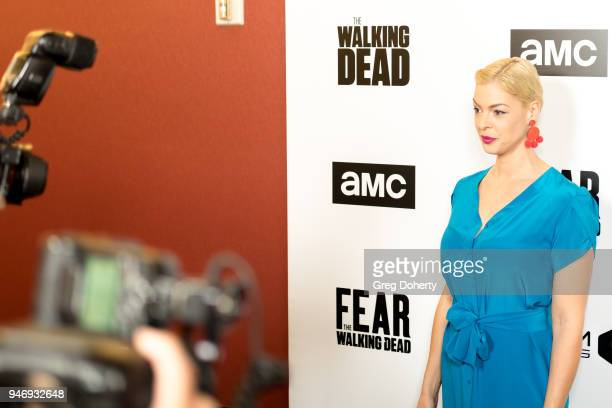 Pollyanna McIntosh attends the 'The Walking Dead' 'Fear The Walking Dead' Celebrate Survival Sunday on April 15 2018 in Century City California