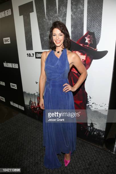 Pollyanna McIntosh attends The Walking Dead Premiere and After Party on September 27 2018 in Los Angeles California