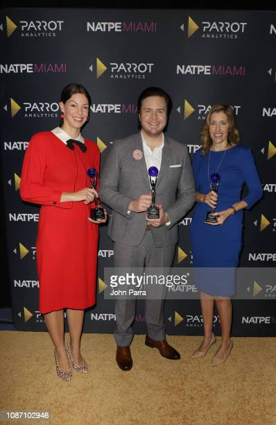 Pollyanna McIntosh Josh McDermitt and Denise Huth receive the 2018 Global TV Demand Award Most InDemand TV Series for the'The Walking Dead' at the...