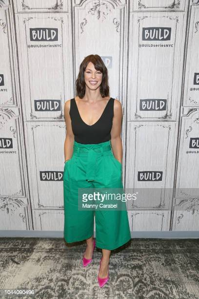 Pollyanna McIntosh visits Build Brunch to discuss the upcoming season of the series 'The Walking Dead' at Build Studio on October 1 2018 in New York...