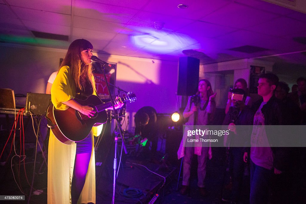 PollyAnna performs at The Queens Hotel,on May 14, 2015 in