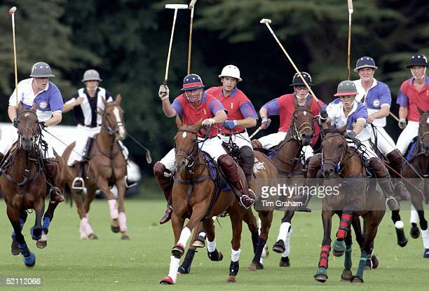 Polo At Cirencester In Gloucestershire Prince Charles Prince William And Prince Harry In The Same Team Called ' Highgrove ' After Their Home Their...