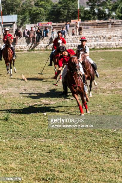 Polo been played on a polo ground on Mai 25 2016 in Chitral Khyber Pakhtunkhwa Pakistan