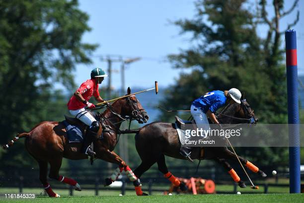 A polo match produced by Grandiosity Events CigarsGuitars Charity PoloJazz charity event Powered by Logical Technology and Research is seen at...