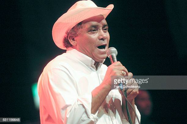 Polo Montanez, vocal, performs at the music Meeting in De Vereeniging on November 2nd 2002 in Nijmegen, the Netherlands.