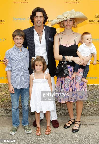 Polo player and model Nacho Figueras poses for a photo with his family wife Delfina Blaquier and their children Hilario Aurora and Artemio at the 3rd...