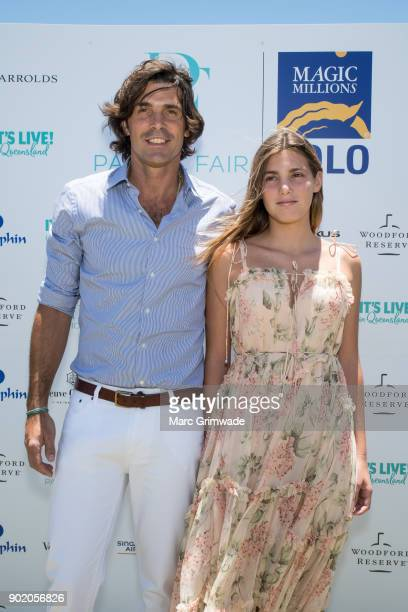 Polo player Nacho Figeuras and daughter Aurora attend Magic Millions Polo on January 7 2018 in Gold Coast Australia