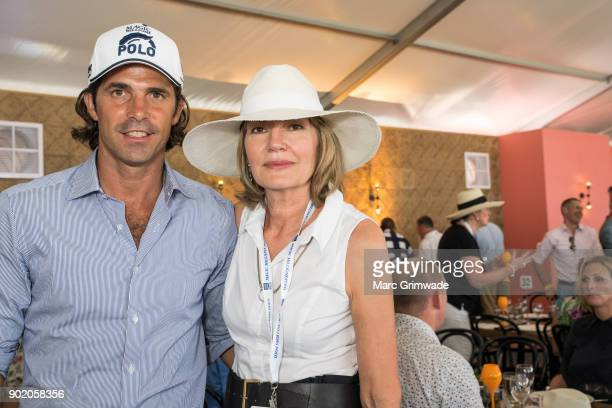 Polo player Nacho Figeuras and Katie Page attend Magic Millions Polo on January 7 2018 in Gold Coast Australia