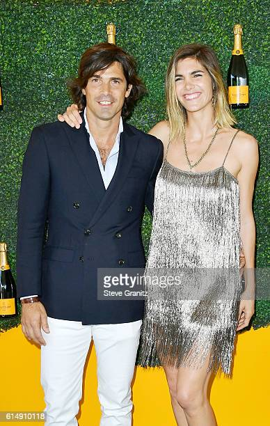 Polo Player Nacho Figueras and CoHost Delfina Blaquier attend the Seventh Annual Veuve Clicquot Polo Classic at Will Rogers State Historic Park on...