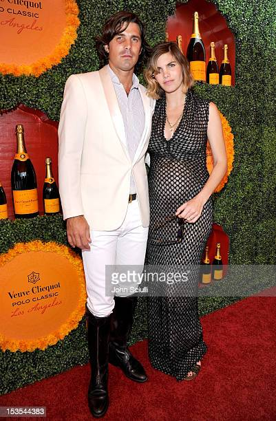 Polo player Nacho Figueras and host Delfina Blaquier attend the Third Annual Veuve Clicquot Polo Classic at Will Rogers State Historic Park on...