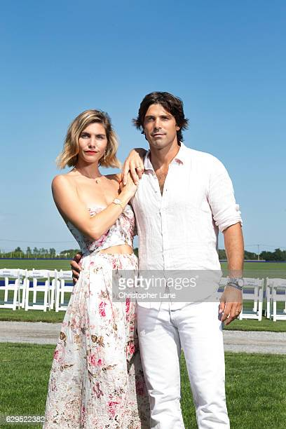 Polo player Nacho Figueras and wife Delfina Blaquier are photographed for The London Times on August 7 2016 in Hampton New York