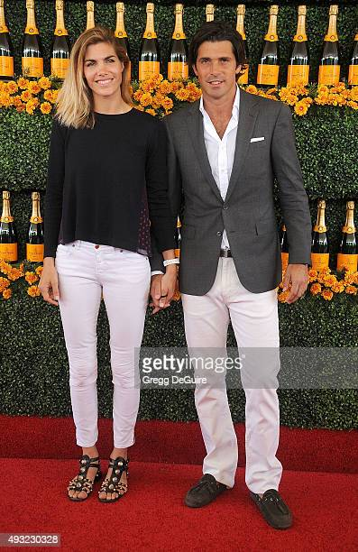 Polo player Nacho Figueras and wife Delfina Blaquier arrive at the SixthAnnual Veuve Clicquot Polo Classic Los Angeles at Will Rogers State Historic...