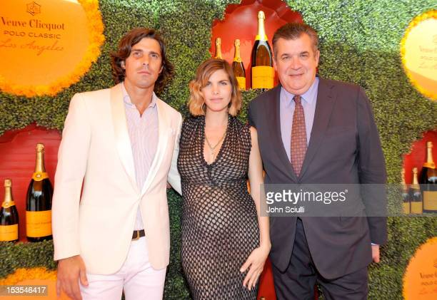 Polo player Nacho Figueras host Delfina Blaquier and CEO Vueve Clicquot JeanMarc LaCave arrive at the Third Annual Veuve Clicquot Polo Classic at...