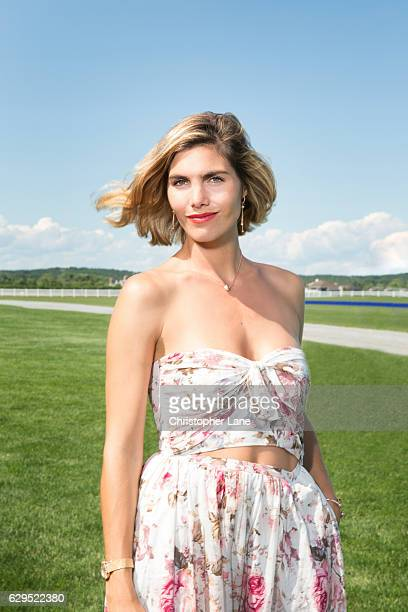 Polo player Nacho Figueras's wife Delfina Blaquier is photographed for The London Times on August 7 2016 in Hampton New York