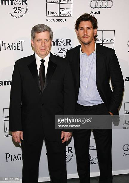 Polo Player Nic Roldan and President of Piaget North America Larry Boland and attend the 2nd Annual amfAR Inspiration Gala at The Museum of Modern...