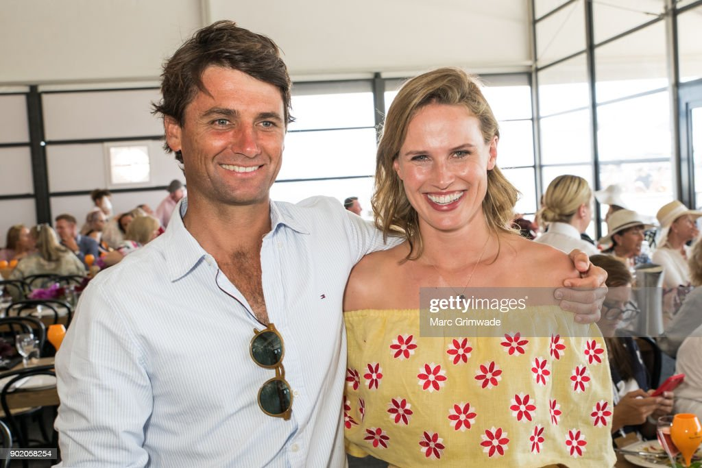 Polo player Rob Archibald and his wife racing identity Francesca Cumani attend Magic Millions Polo on January 7, 2018 in Gold Coast, Australia.