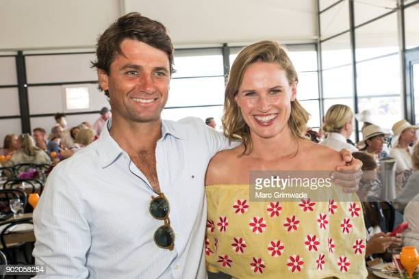 Polo player Rob Archibald and his wife racing identity Francesca Cumani attend Magic Millions Polo on January 7 2018 in Gold Coast Australia
