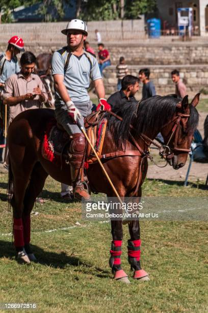 Polo player waiting the start of the game on Mai 25 2016 in Chitral Khyber Pakhtunkhwa Pakistan